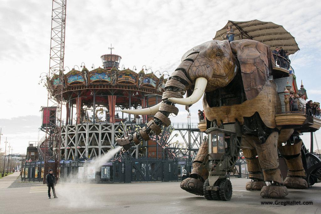 L'éléphant et le Carrousel à Nantes